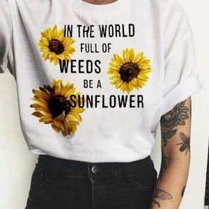 Women's  short  sleeve graphic print T-shirt  top